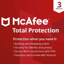 אנטי וירוס McAfee Total Protection 2020 כולל מנוי ל- 5 שנים עבור מחשב אחד