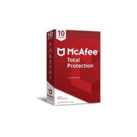 אנטי וירוס McAfee Total Protection 2020 כולל מנוי ל-10 מחשבים למשך 3 שנים