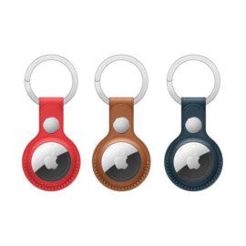טבעת מפתח AirTag Leather Key Ring) AirTag) עשויה נירוסטה חזקה לחיבור חפצים ל-AirTag בקלות ואלגנטיות
