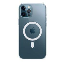 כיסוי לאייפון 12 פרו מקס MagSafe בצבע שקוף - מקורי אפל ואחריות יבואן רשמי סי דאטה