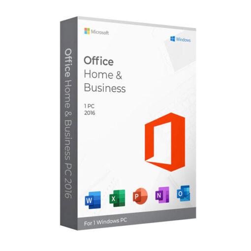 משלוח דיגיטלי מהיר ומאובטח Microsoft Office Home & Business 2016 לבית ולעסק תומך עברית