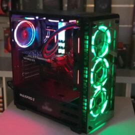 מחשב נייח גיימינג Intel i5-10400 זכרון 16GB דיסק SSD 480GB כולל מסך MAG ומערכת הפעלה